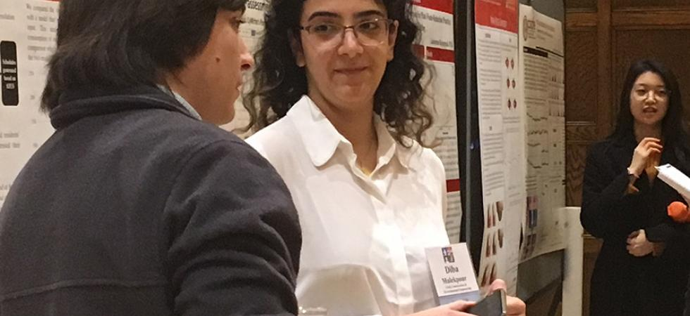 PhD student Diba Malekpour-Koupaei presents at 2019 ISU Research Day